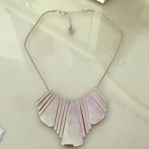 Silver mirrored necklace